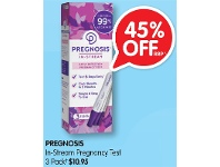 Alliance Pharmacy Pregnosis In-Stream Pregnancy Test 3 Pack