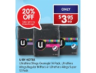 Alliance Pharmacy Selected U By Kotex Range