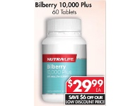Pharmacy 4 Less Nutralife Bilberry 10,000 Plus 60 Tablets