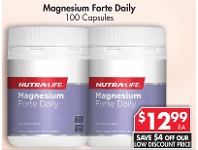 Pharmacy 4 Less Nutralife Magnesium Forte Daily 100 Capsules
