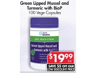Pharmacy 4 Less Henry Blooms Green Lipped Mussel And Turmeric With BioP 100 Vege Capsules