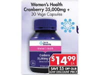 Pharmacy 4 Less Henry Blooms Women's Health Cranberry 35,000mg + 30 Vege Capsules