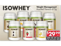 Pharmacy 4 Less Isowhey Weight Management Assorted Flavours 672g
