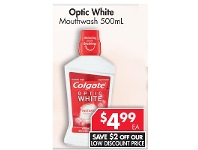 Pharmacy 4 Less Colgate Optic White Mouthwash 500mL