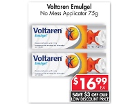 Pharmacy 4 Less Voltaren Emulgel No Mess Applicator 75g