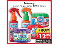 Pharmacy 4 Less Painaway Cream 70g Or Spray 100mL Range