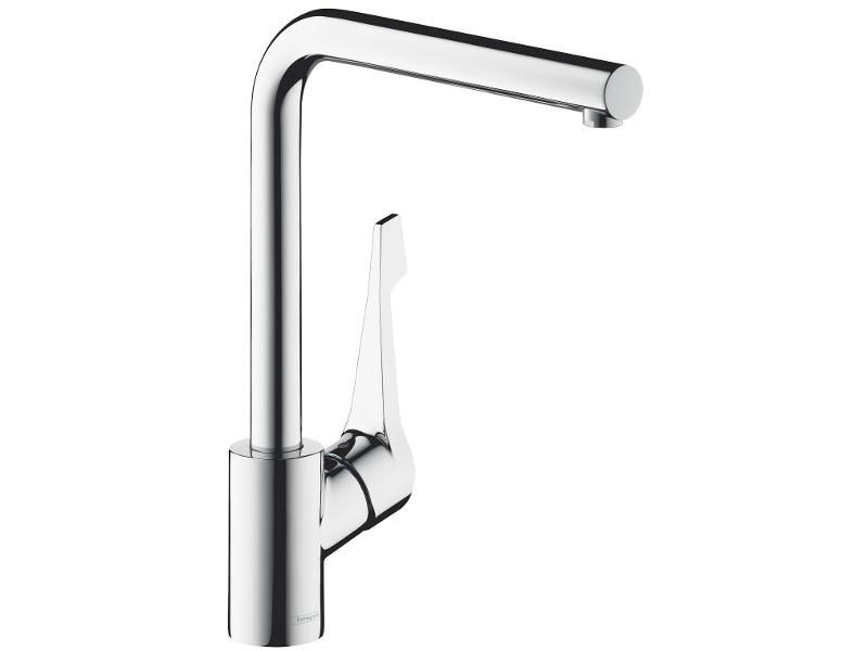 Hansgrohe 14802003 Cento Square L Right Angle Kitchen Mixer Tap