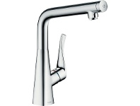 Appliances Online Hansgrohe 14883003 Metris Select 320 Right Angle Kitchen Mixer Tap
