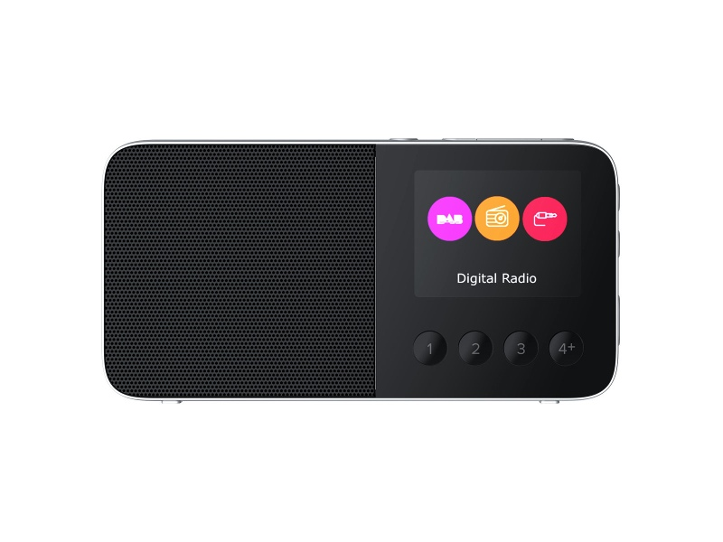 Pure 152224 Move T4 Portable Rechargeable Bluetooth DAB+ and FM Radio Black