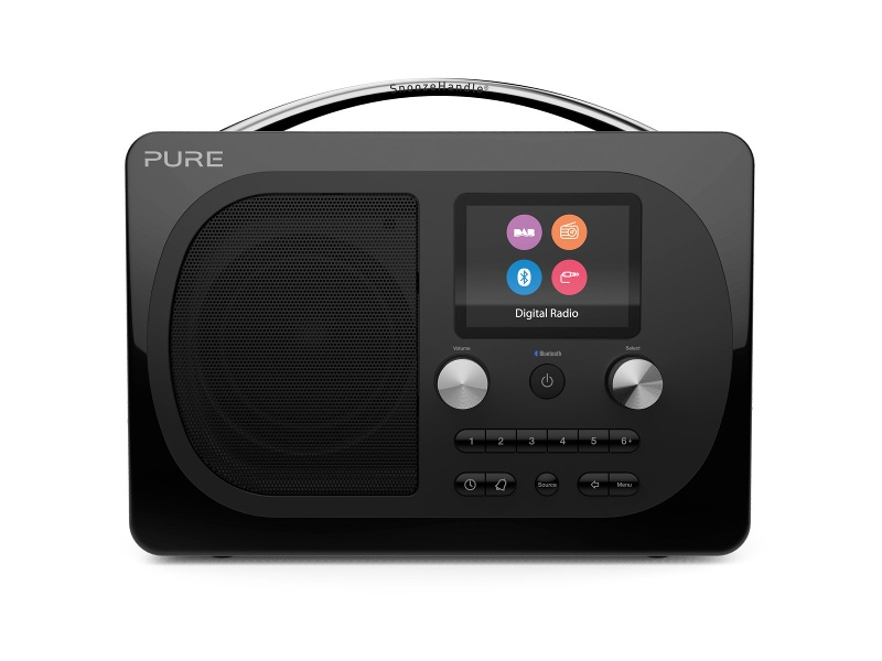Pure 153022 Evoke H4 Prestige Portable DAB+ and FM Radio Black