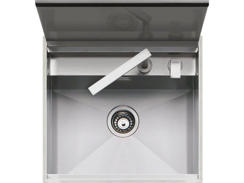Barazza 1LLB60 Lab Single Bowl Sink with Cover