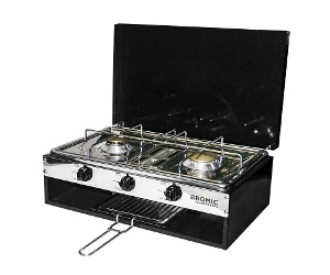 Bromic 2020068 Camper-Lido Junior Deluxe 2 Burner with Grill