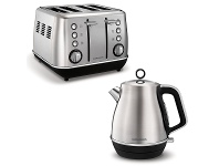 Appliances Online Morphy Richards 240106104406 Evoke Stainless Steel Toaster and Kettle Pack