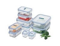 Appliances Online Glasslock 28041 10-Piece Tempered Glass Food Container Set