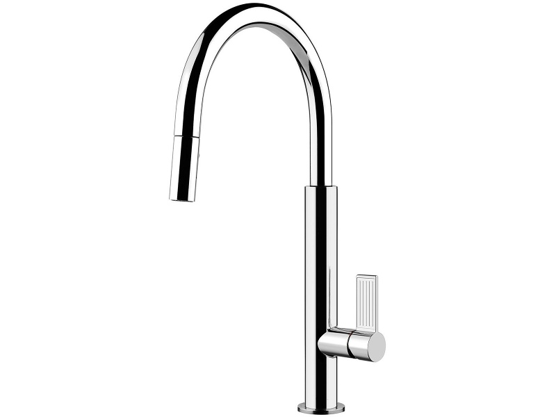 Gessi 37064 Emporio Oxygene Pull Out Dual Function Spray Kitchen Mixer Tap
