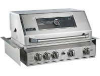 Appliances Online Smart 401WB-B 4 Burner Built-In LPG BBQ with Enclosed Hood