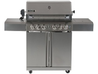 Appliances Online Smart 411W 4 Burner Trolley with Enclosed Hood LPG BBQ