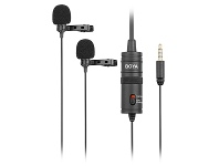 BOYA BY-M1DM Dual Lavalier Microphone for Smartphones & DSLR 500305