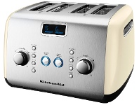 Appliances Online KitchenAid 5AKMT423AC Artisan 4 Slice Toaster Almond Cream