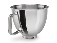 Appliances Online KitchenAid 5KSM35SSFP Bowl With Handle for Mini Mixer Polished Stainless Steel