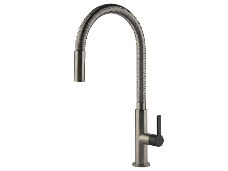 Gessi 60003BNB Mesh Pull Out Kitchen Mixer Tap