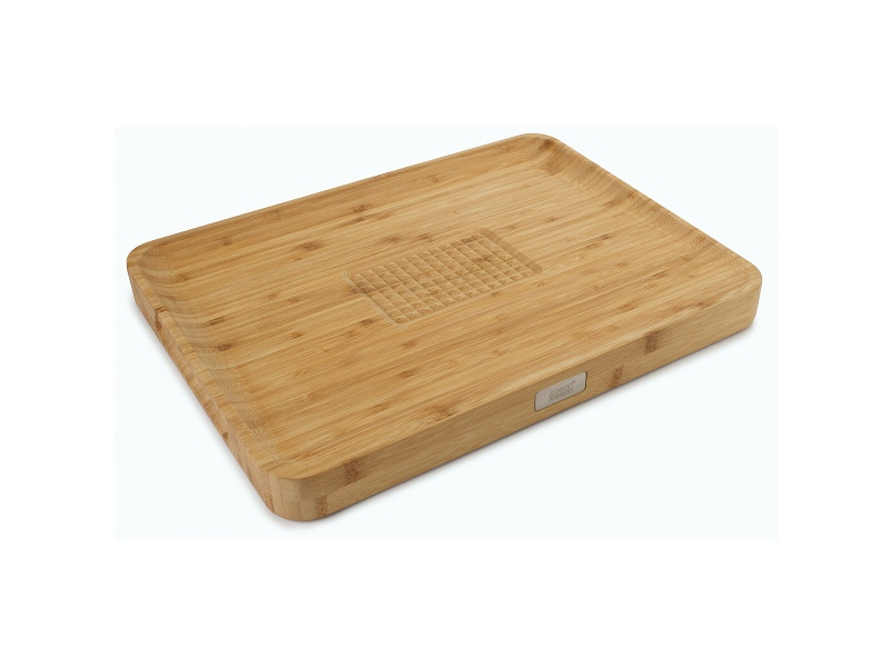 Joseph Joseph 60142 Cut and Carve Bamboo Chopping Board