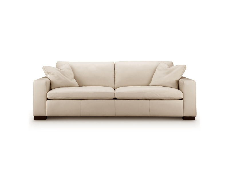 Kalona Genoa Three Seater Leather Sofa Cream 6456-30C