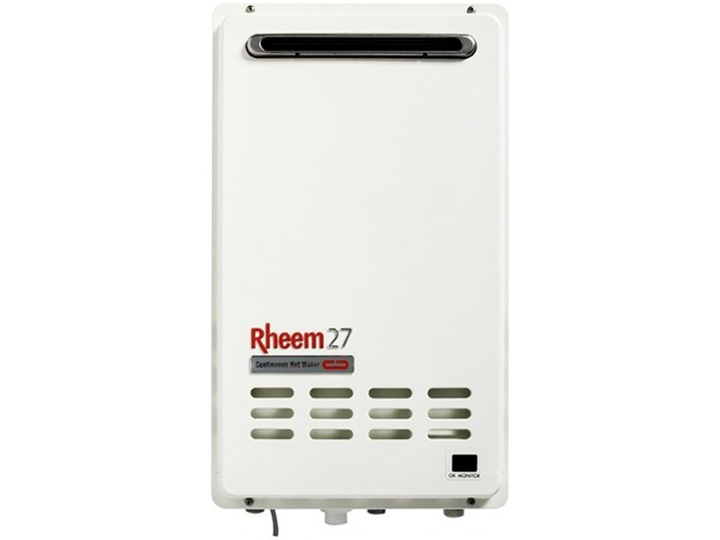 Rheem N/G 27Ltr Continuous Flow 50°C Hot Water System 876627NF