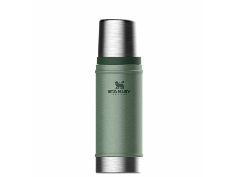 Stanley 88400 16oz Hammertone Green Classic Insulated Vacuum Bottle