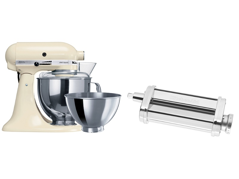 KitchenAid 9340590310 Artisan Almond Cream Stand Mixer and Pasta Roll