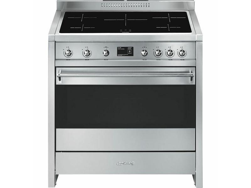 Smeg 90cm Classic Aesthetic Freestanding Pyrolytic Electric Oven/Stove A1PYID-9