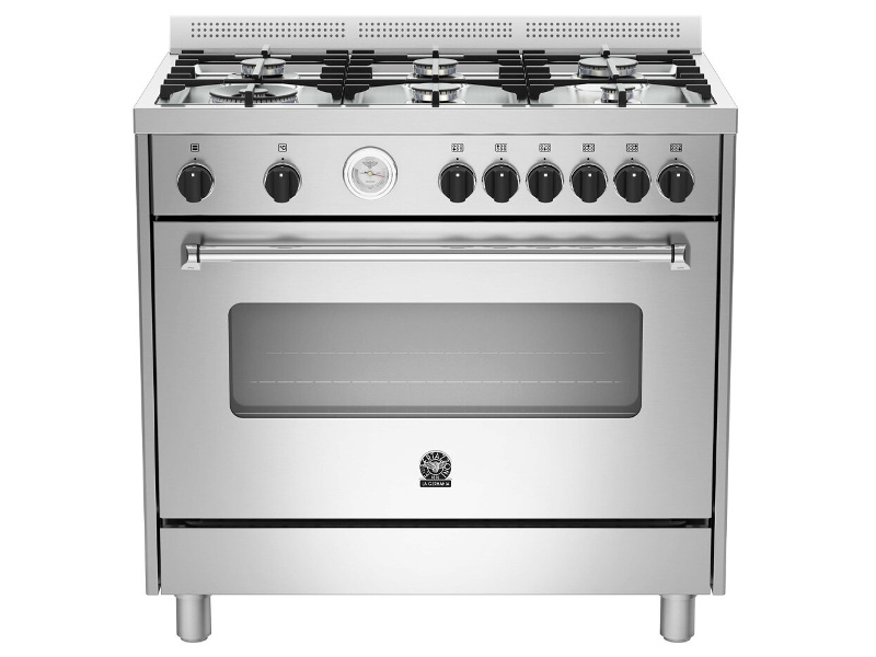 La Germania AMS96C71BX 90cm Americana Series Freestanding Natural Gas Oven/Stove