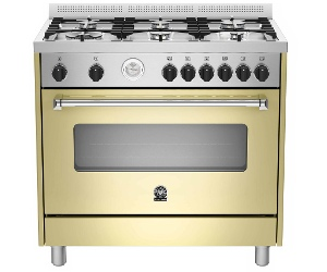 La Germania AMS96C71LBCR 90cm Americana Series Freestanding Natural Gas Oven/Stove