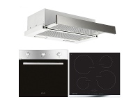 Appliances Online Glem 60cm Electric Oven, Induction Cooktop & 60cm Slideout Rangehood Pack AOLGLEMPK3