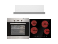 Appliances Online Arc 60cm Electric Oven, 60cm Ceramic Cooktop & 60cm Slideout Rangehood Pack AP6C1