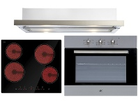 Appliances Online Arc 60cm Electric Oven, 60cm Ceramic Cooktop & 60cm Retractable Rangehood Pack AP6C