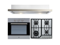 Appliances Online Arc Electric Oven, 60cm Gas Cooktop & 60cm Retractable Rangehood Pack AP6G