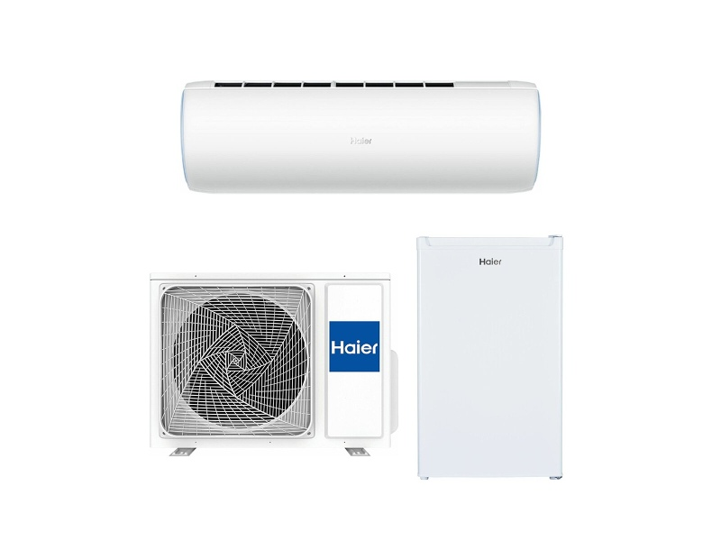 Haier Dawn Series 3.4KW Air Conditioner with 130L Bar Fridge AS35DCBHRASET-HRZ130