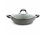 Appliances Online Bialetti B6T4028 Petravera Real Stone Induction 28cm Skillet with Lid