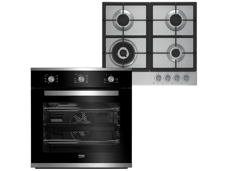 Beko 60cm Built In Multifunction Oven and 60cm Gas Cooktop - Cooking Pack BCPGCR1