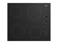 Appliances Online Beko 60cm Vitroceramic 4 Zone Cooktop BCT601CG