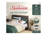 Appliances Online Sunbeam Sleep Perfect Queen King Wool Fleece Heated Blanket BLW5671