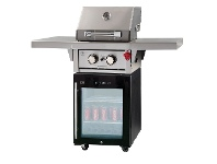 Appliances Online Gasmate BFM 2 Burner LPG BBQ with 97L Bar Fridge BQ1084