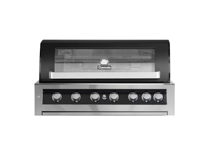 Gasmate BQ1190BLB Galaxy Black 6 Burner Built-In LPG BBQ