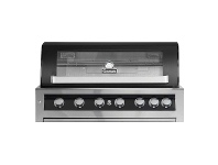 Appliances Online Gasmate BQ1190BLBNG Galaxy Black 6 Burner Built-In Natural Gas BBQ