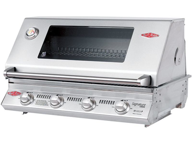 Beefeater BS12840S Signature 3000SS 4 Burner Built-In LPG BBQ