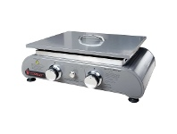 Appliances Online Bosston BSTNPP-2 2 Burner Plancha Solid Hotplate BBQ