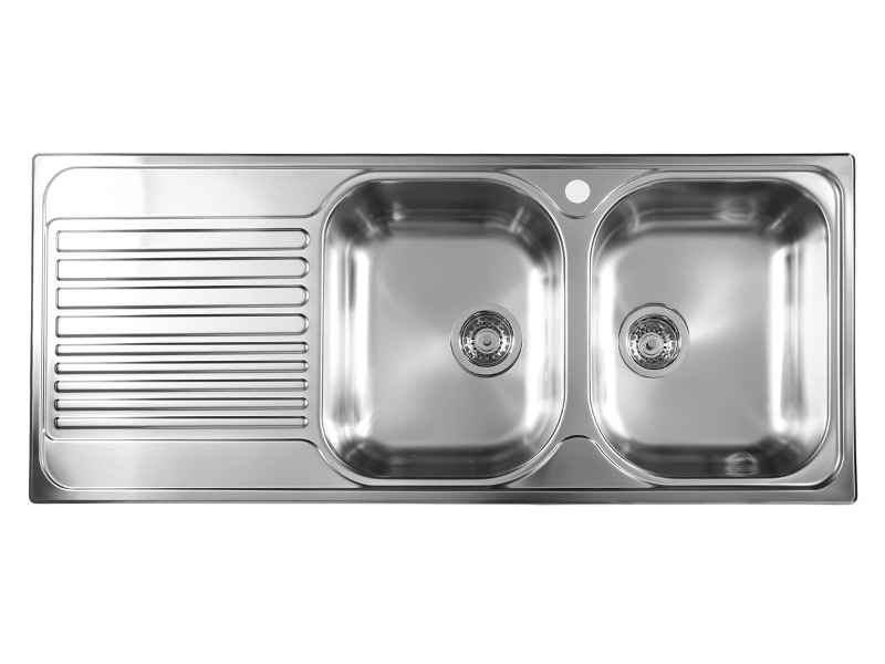 Blanco BTIPO8SLHD Double Bowl Left Hand Drainer Sink