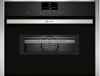 Appliances Online NEFF C27MS22H0B 45cm Compact Pyrolytic Built-In Combi-Microwave Oven