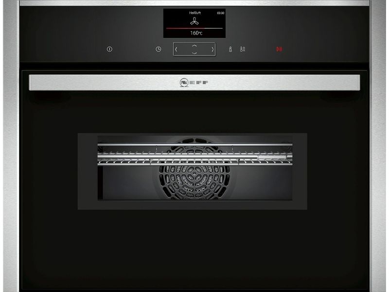 NEFF C27MS22H0B 45cm Compact Pyrolytic Built-In Combi-Microwave Oven